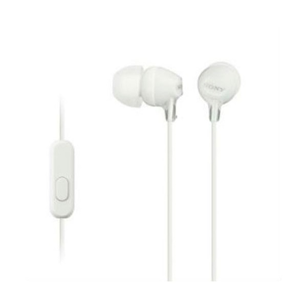 Sony mdr-ex15ap blanco auriculares in-ear cómodos y ligeros 8hz a 22 khz diafragma 9mm