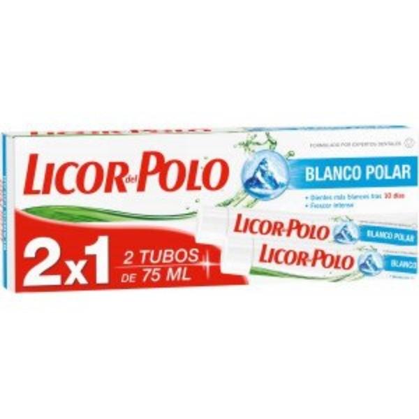 Licor del Polo dentífrico Blanco Polar, 75 ml ,  2x1