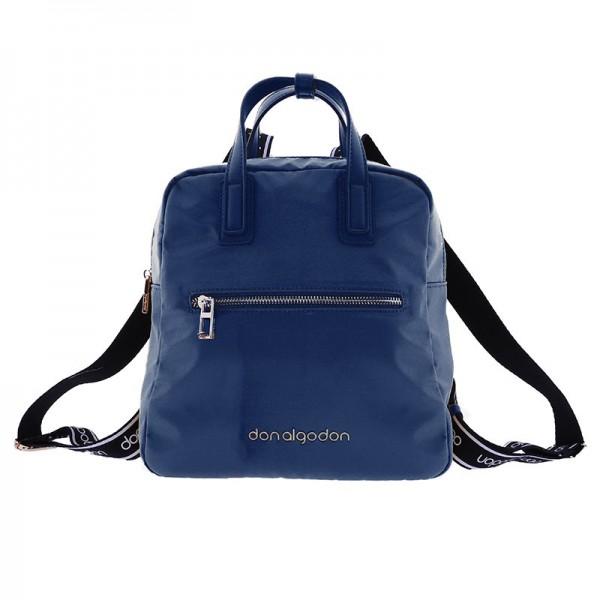 Bolso mochila azul marino don algodon