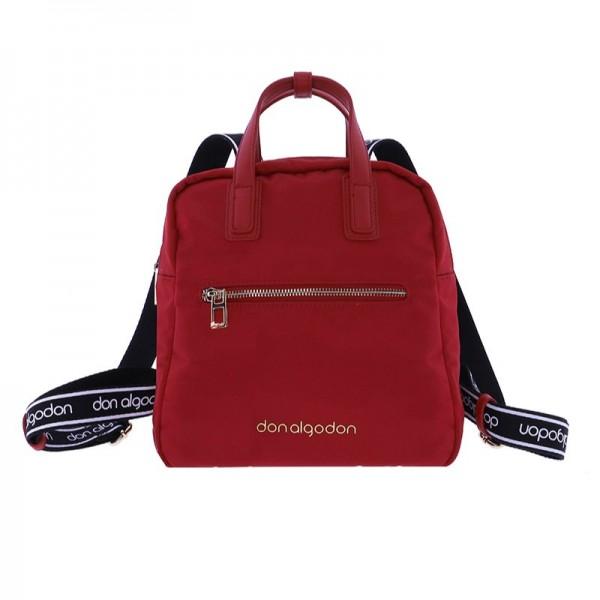 Bolso-Mochila Don Algodon, color rojo