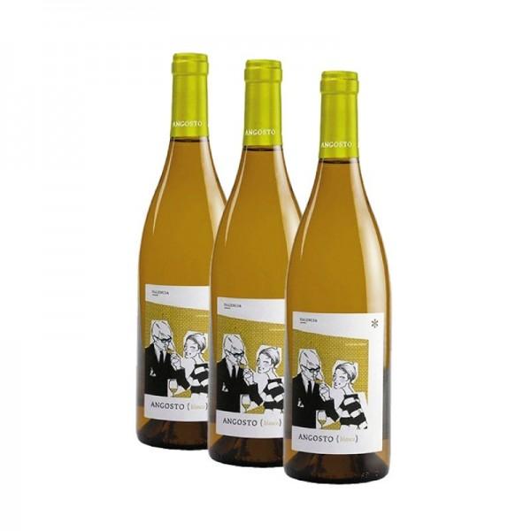 Angosto Blanco  pack de 3 unidades vino blanco
