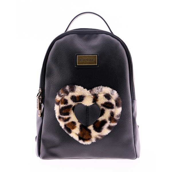 Mochila negra outlet for time