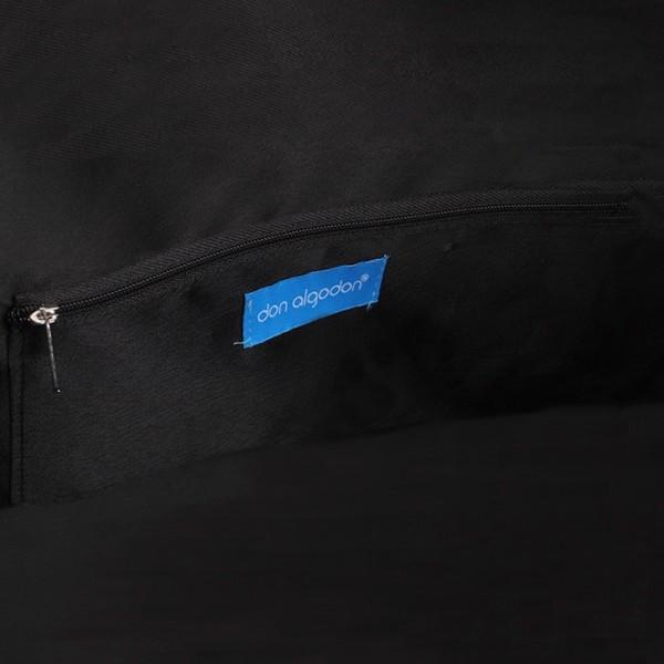 Bolso negro estampado estilo playero don algodon