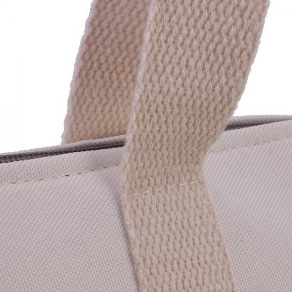Bolso gris estampado estilo playero don algodon